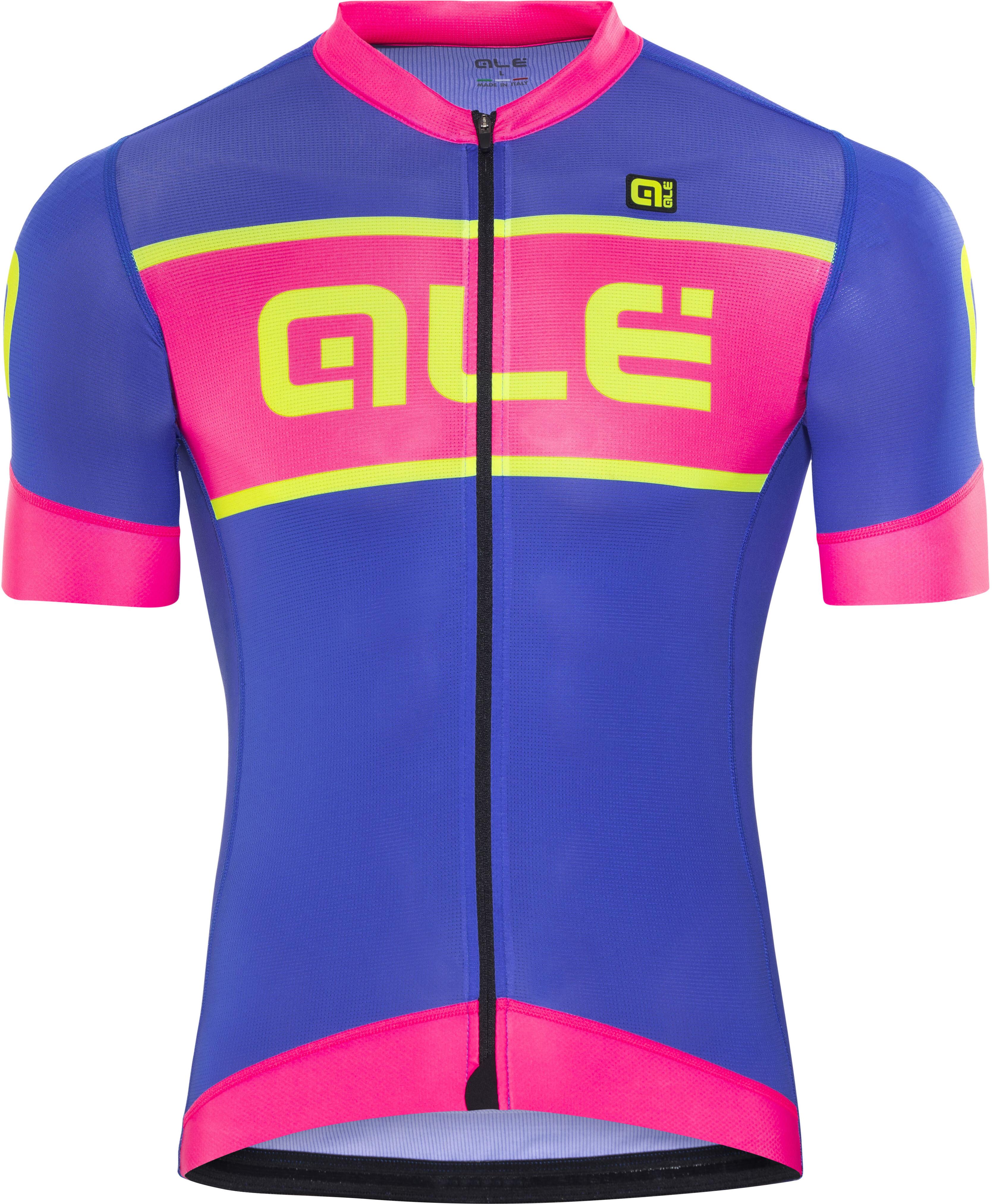 fec226135 Alé Cycling R-EV1 Master Bike Jersey Shortsleeve Men pink blue at ...